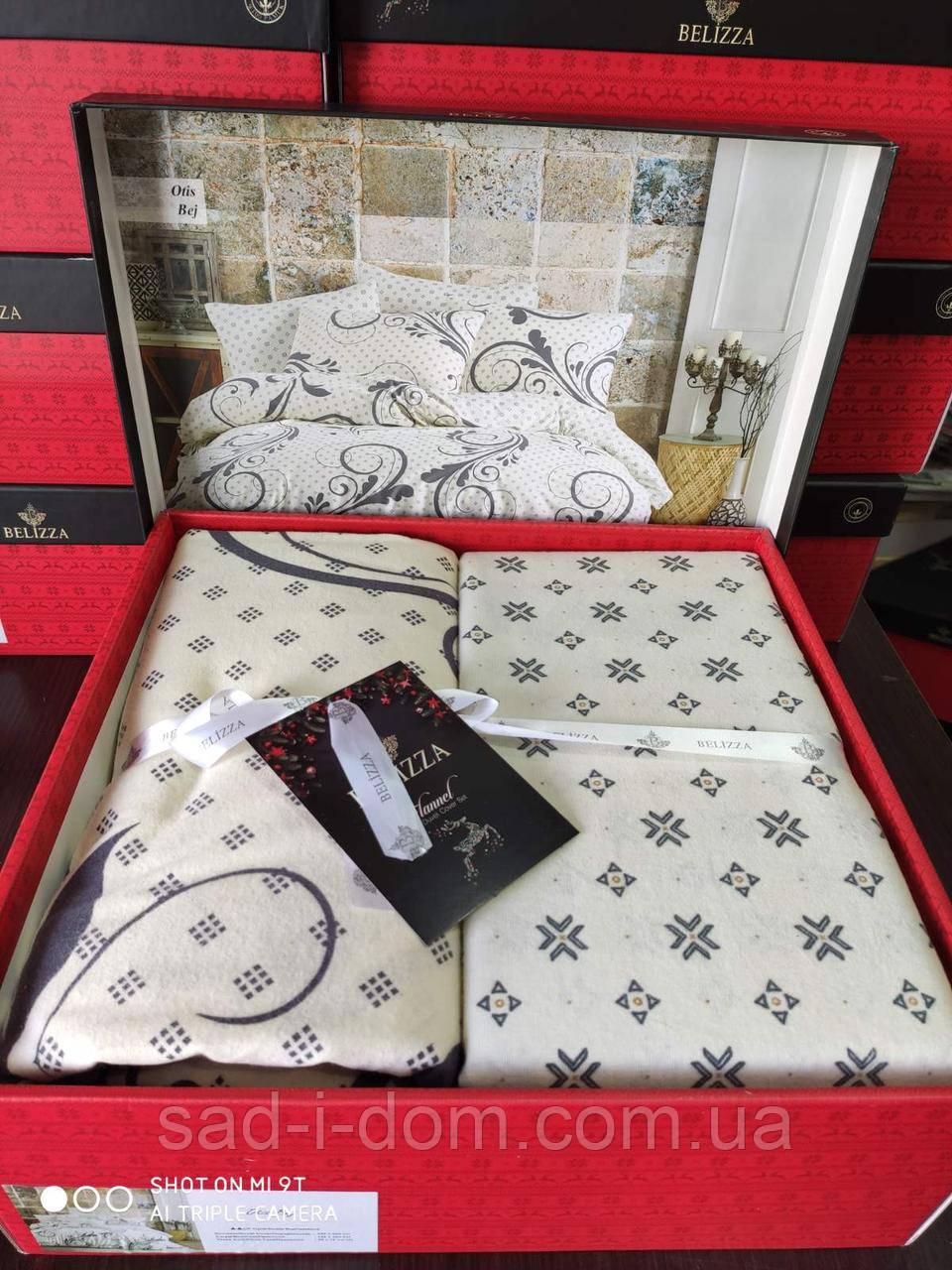 Комплект постельного белья, фланель евро размер