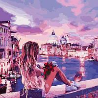 Картина рисование по номерам ArtStory Вечер в Венеции 40х40см AS0810 набор для росписи, краски, кисти, холст