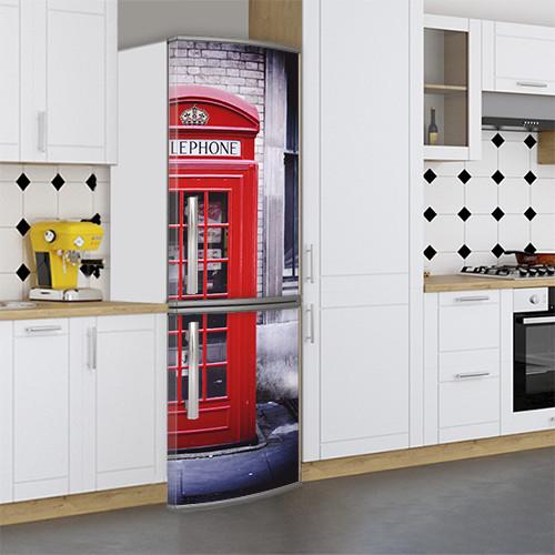 Виниловая наклейка на холодильник, Красивые холодильники фото, Самоклейка, 180 х 60 см, Лицевая (holSS1_ar11457 Архит.)