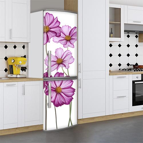 Наклейка для холодильника оклейка кухни Самоклейка, 180 х 60 см, Лицевая (holSS1_fl102929 Цветы)