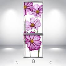 Наклейка для холодильника оклейка кухни Самоклейка, 180 х 60 см, Лицевая (holSS1_fl102929 Цветы), фото 2