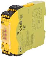 751104 PNOZ s4 C 24VDC 3 n/o 1 n/c PILZ Реле безопасности