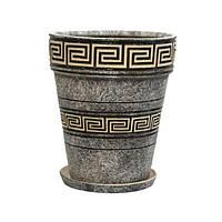 Горшок керамический для пересадки цветов  Кипарис 10,7 л