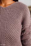Укороченый вязаный пуловер коричневый, фото 3