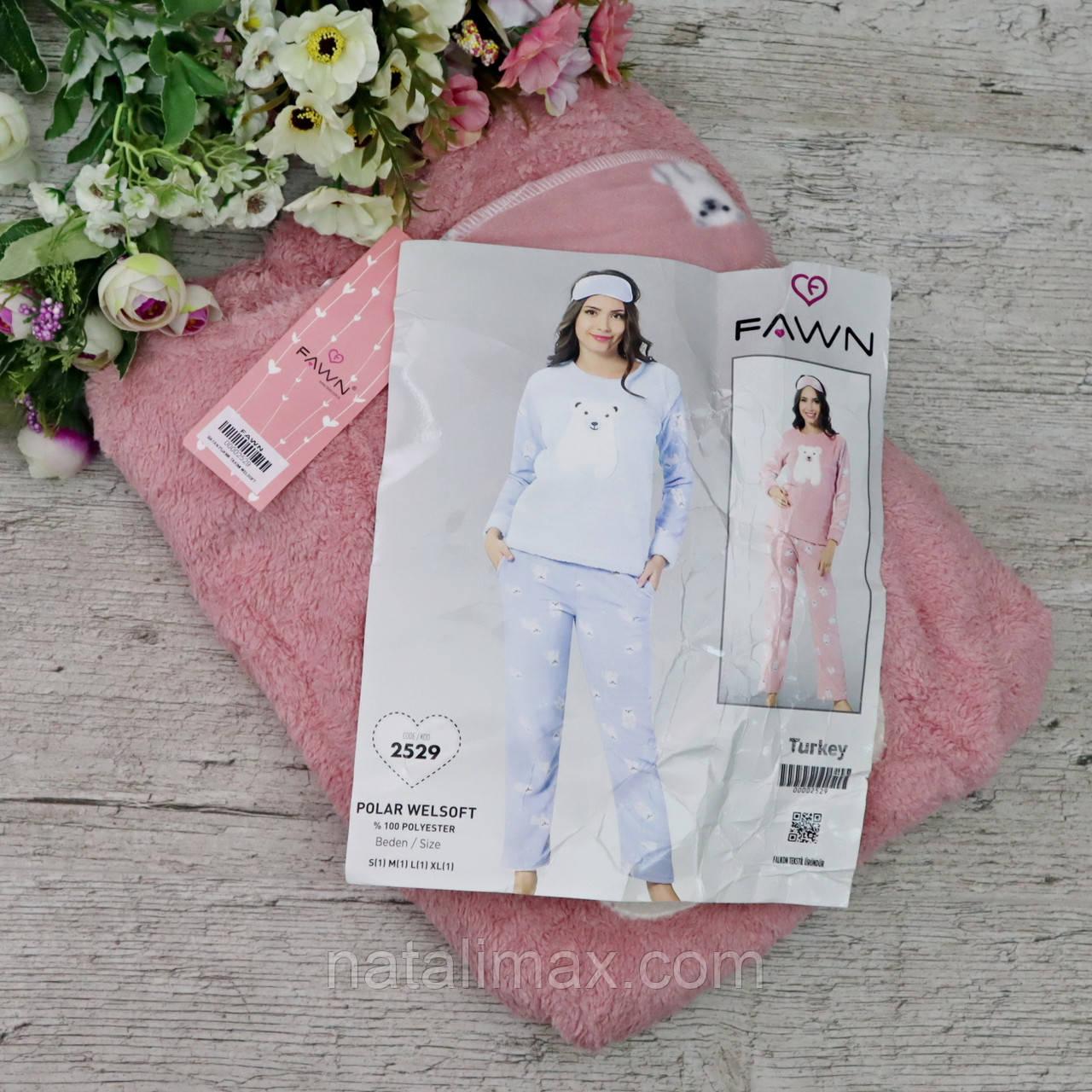 Пижама женская МАХРА и ФЛИС+ повязка для сна. Размер XL(48-50) Турция