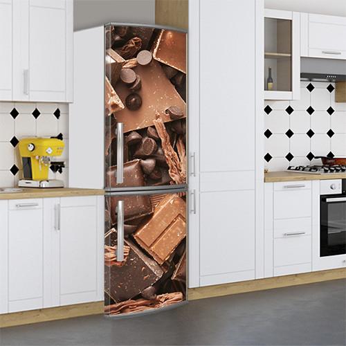 Виниловая наклейка на холодильник, Виниловые наклейки для холодильника, Самоклейка, 180 х 60 см, Лицевая (holSS1_ed11410 Еда)