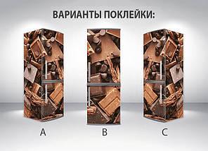 Виниловая наклейка на холодильник, Виниловые наклейки для холодильника, Самоклейка, 180 х 60 см, Лицевая (holSS1_ed11410 Еда), фото 2