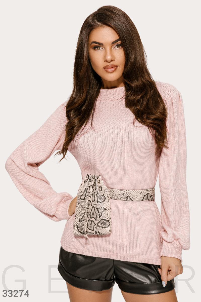Вільний рожевий джемпер