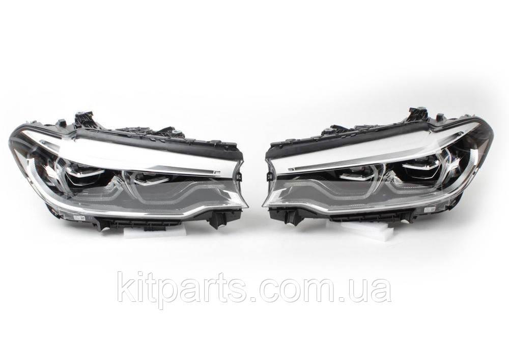 Передние фары адаптивные фонари оптика Full LED DEPO BMW 5 G30 Adaptive