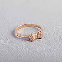 Кольцо в виде бантика золотое ГП20954
