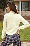 Вязаный свитер с высоким воротником белый, фото 4