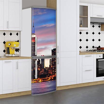 Виниловая наклейка на холодильник, Защитная пленка на холодильник, Самоклейка, 180 х 60 см, Лицевая (holSS1_cn00302 Город), фото 2