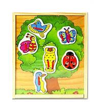 Развивающая игрушка Деревянная шнуровка Дерево