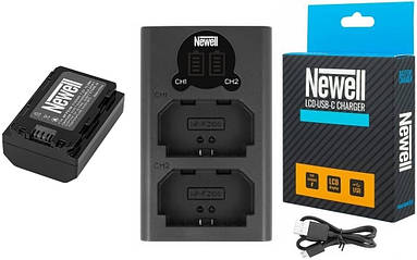 Двойное Зарядное устройство зу З\У Newell LCD-USB charger for NP-FZ100