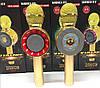 Микрофон караоке Wster WS-668 - беспроводной Bluetooth микрофон-колонка со cветомузыкой, слотом USB и FM, фото 4