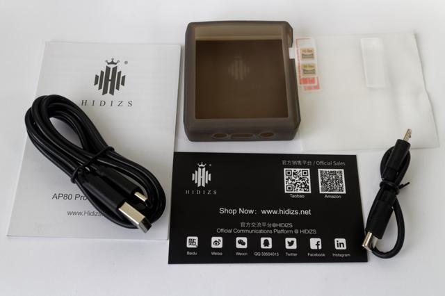 Рисунок - плеер mp3 Hidizs AP80 PRO комплект поставки