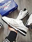 Мужские кроссовки Reebok Classiс White/Black (бело-черные) 530PL, фото 2