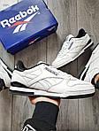 Мужские кроссовки Reebok Classiс White/Black (бело-черные) 530PL, фото 3