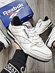 Мужские кроссовки Reebok Classiс White/Black (бело-черные) 530PL, фото 4