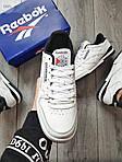 Мужские кроссовки Reebok Classiс White/Black (бело-черные) 530PL, фото 6
