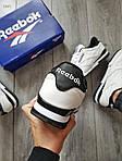 Мужские кроссовки Reebok Classiс White/Black (бело-черные) 530PL, фото 7