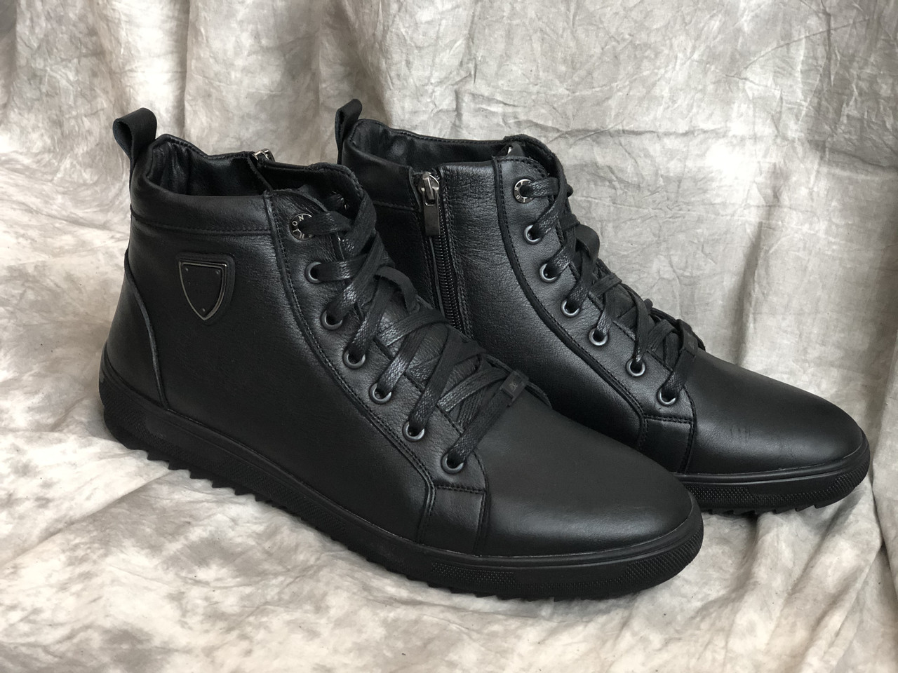 Кожаные ботинки мужские очень удобные 4021 ч/к размеры 40,41,42,43,45