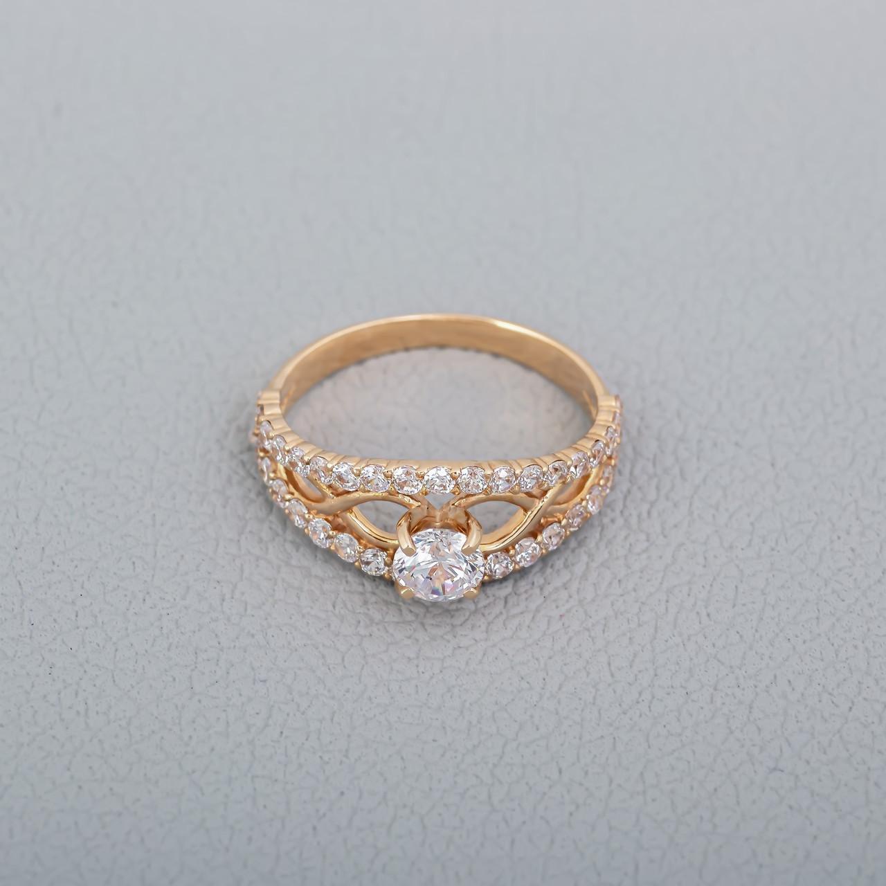 Золотое кольцо на помолвку ГП21132