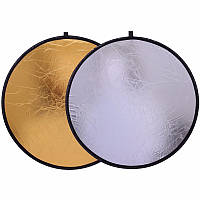 CY портативный складной  фото отражатель 60 см 2 в 1 рефлектор серебряный  золотой
