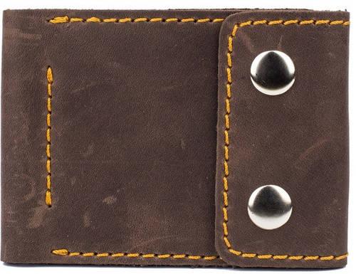 Мужское ультра тонкое кожаное портмоне с зажимом для купюр Black Brier П-16-33 коричневый