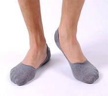 Носки следы серые - унисекс (подходят для мужчин и женщин), размер до 39 размера (стелька максимум 25см)