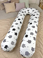 Подушка для беременных для кормления обнимашка U образная подкова 100% Хлопок XXL 350 см Radi Vsi