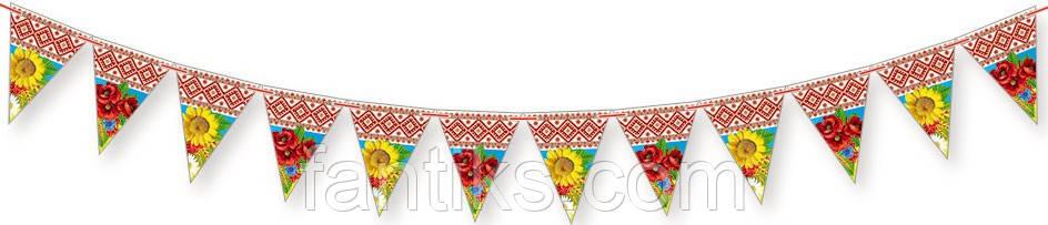 Гірлянда святкова з українською симвлікою