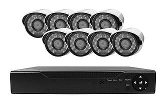 Система видеонаблюдения 8 камер AHD KIT 6608 1080P