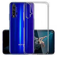 Чехол силиконовый для Huawei Nova 5T ультратонкий прозрачный