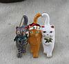 Брошь брошка значок кот кошка котенок 3 кота металл эмаль новый год, фото 3