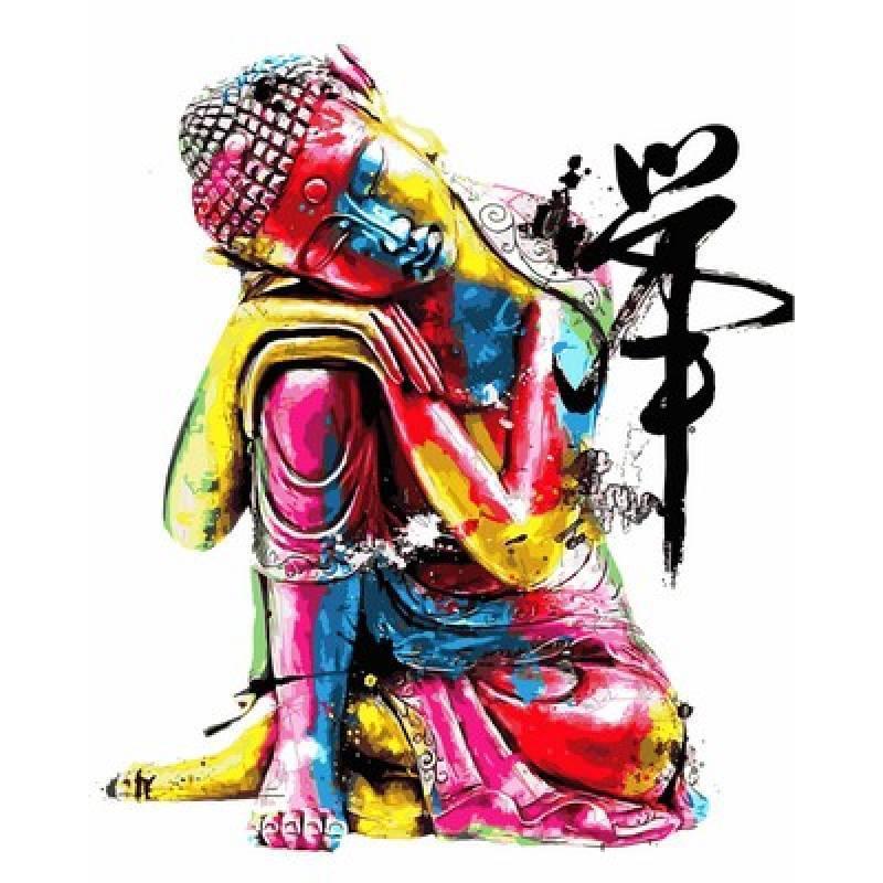 Картина по номерах Babylon Будда. Худ. Патрис Мурчиано 40х50см VP756 набір для розпису по номерах в коробці набір для розпису, фарби та пензлі