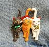 Брошь брошка значок кот кошка котенок 3 кота металл эмаль новый год, фото 8