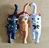 Брошь брошка значок кот кошка котенок 3 кота металл эмаль новый год, фото 6