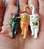 Брошь брошка значок кот кошка котенок 3 кота металл эмаль новый год, фото 2