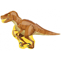 Шар фольгированный фигурный Динозавр желтый 115х60 см
