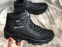 Зимние кожаные кроссовки мужские 1176 ч/к размеры 40,41,42,43,45, фото 1