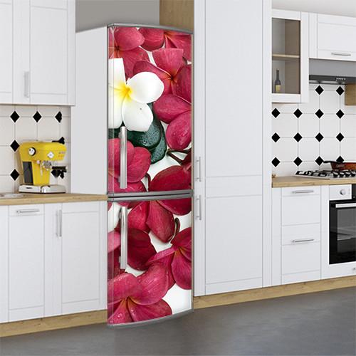 Большие Виниловая наклейка на холодильник, Самоклейка, 180 х 60 см, Лицевая (holSS1_fl102934 Цветы)
