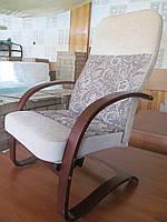 Кресло-качалка Комфорт двухцветная ткань, фото 1
