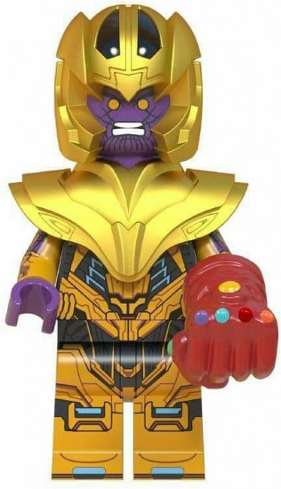 Танос Суперзлодей Марвел Мстители Финал Аналог лего