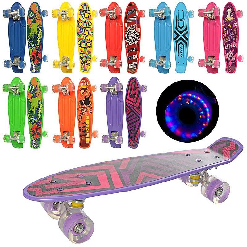 Скейт- пенни борд MS 0749-1, свет