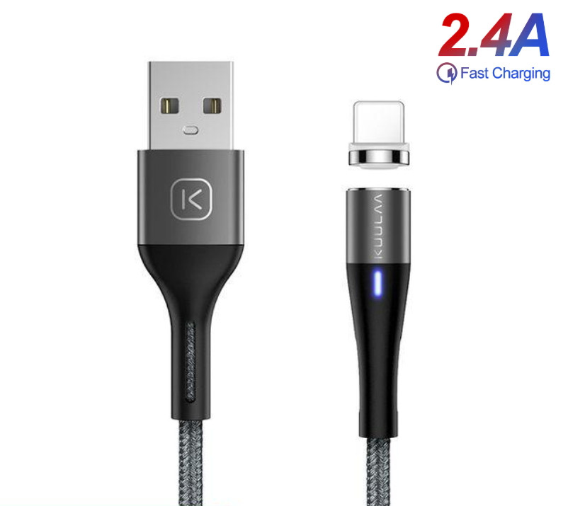 Магнитный дата кабель Apple Lightning to Type-C (1m) 2.4 A Fast Charge шнур быстрой зарядки для iPad/iPhone