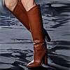 Осень и зима 2020 г., новые модные женские ботинки на толстом каблуке и высоком каблуке, высокие сапоги большого размера, модные женские сапоги, обувь