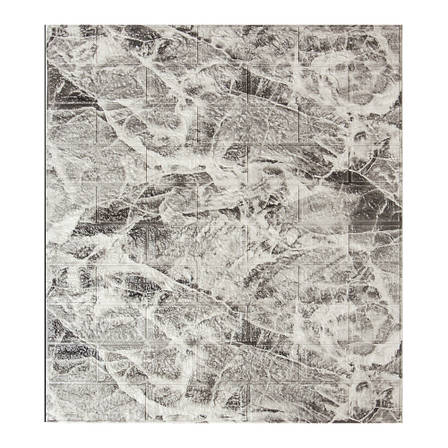 Декоративная 3D панель самоклейка под кирпич Черный мрамор 700x770x5мм, фото 2