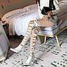 Подіумні туфлі на шпильці на дуже високому каблуці з перехресним ремінцем поверх коліна супер довгі чоботи порожнисті мереживні жіночі білі чоботи
