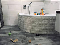 Декоративная 3D панель самоклейка под кирпич Коричневый 700x770x7мм, фото 2